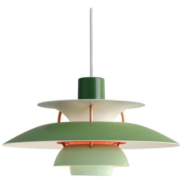 Louis Poulsen Poul Henningson Green PH5 Mini Pendant for Louis Poulsen For Sale - Image 4 of 4