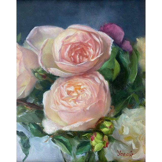 Oil Painting of Garden Roses - Framed For Sale In Las Vegas - Image 6 of 10