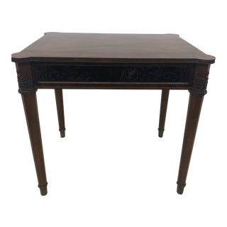 John Widdicomb Neoclassical Mahogany Side Table For Sale