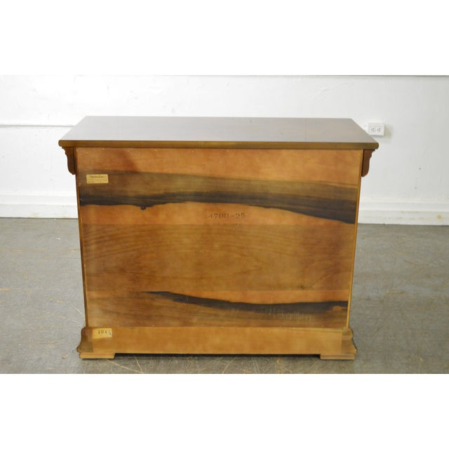 Henredon Burl Wood Charles X Collection 2 Door Server Cabinet For Sale - Image 5 of 10