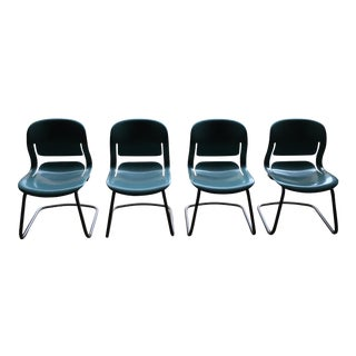 """Herman Miller Model """"Equas"""" Cantilever Chairs - Set of 4 For Sale"""