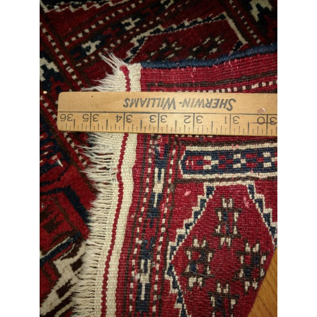 Antique North Indian Wool Area Rug - 3′6″ × 5′4″ For Sale - Image 4 of 8