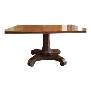 Antique 1840s English Mahogany Pedestal Table For Sale