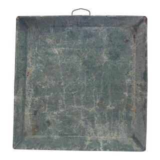 1960s Galvanized Metal Tray For Sale