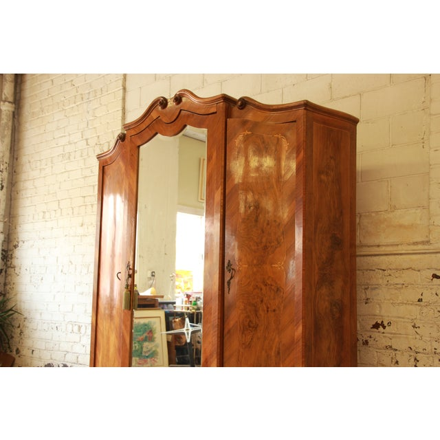 1870's Burled and Inlaid French Knockdown Wardrobe - Image 8 of 11
