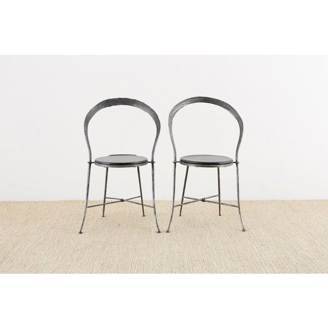 Mid-Century Modern Pair of Giovanni Banci Midcentury Sculptural Iron Chairs For Sale - Image 3 of 13