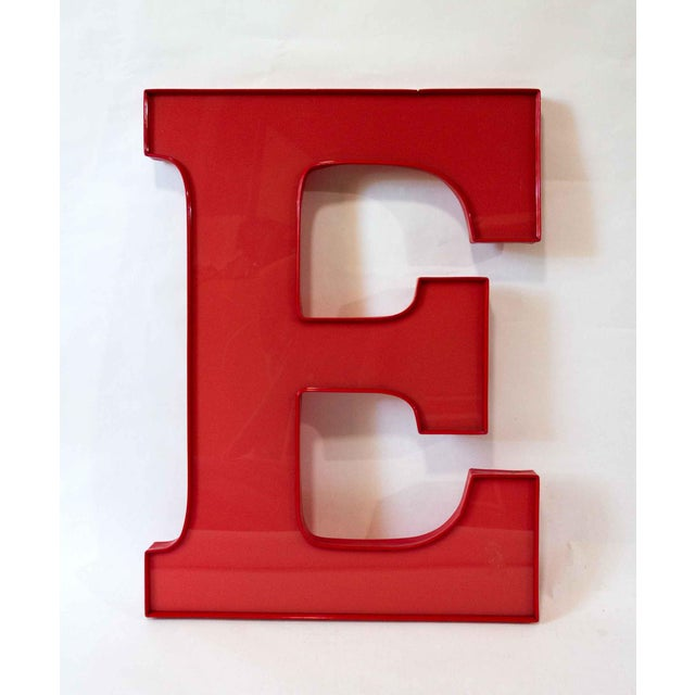 American Vintage Capital Red Letter E For Sale - Image 3 of 3