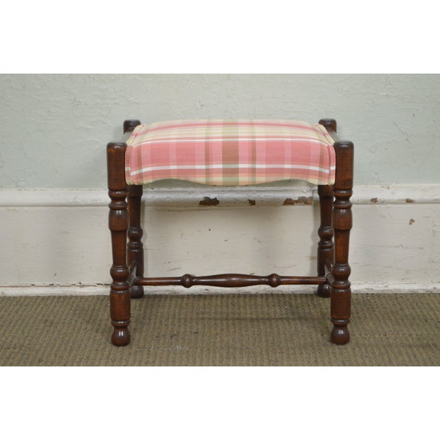 William & Mary Style Bobbin Turned Walnut Stools or Benches - A Pair For Sale - Image 11 of 13