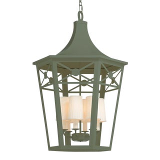 Church Court Lantern, Green For Sale