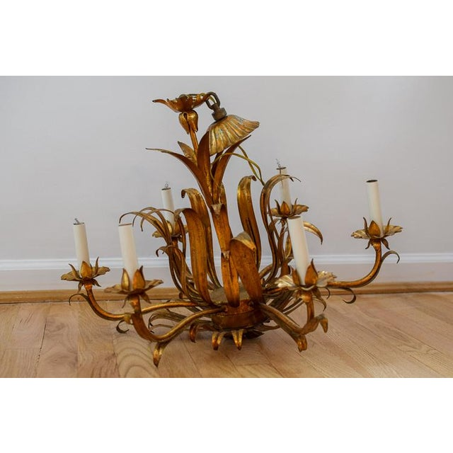 Vintage Mid-Century Tole Chandelier For Sale - Image 12 of 12