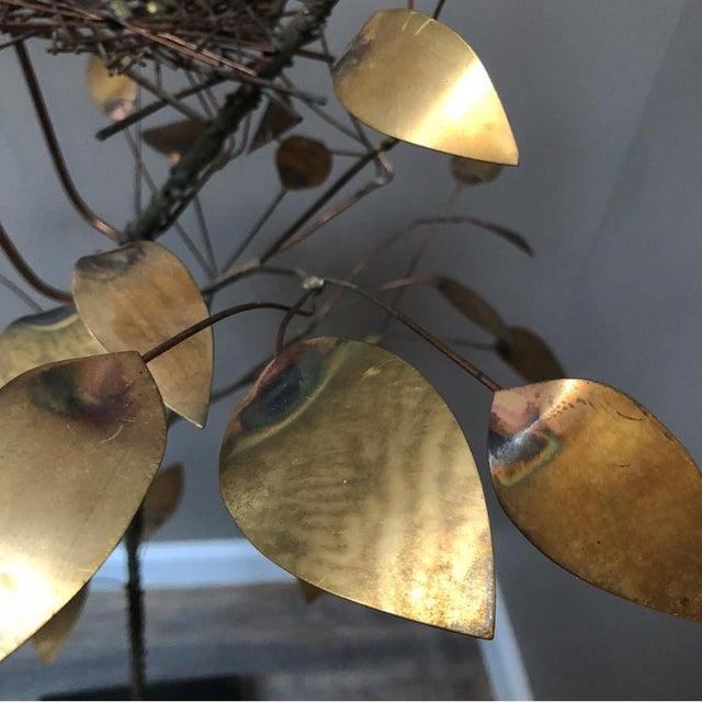 Curtis Jere Brass Tree Birds Nest Floor Sculpture For Sale - Image 6 of 12