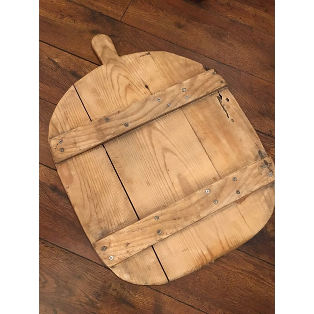 Antique French wood plank bread serving board. Wonderful patina.