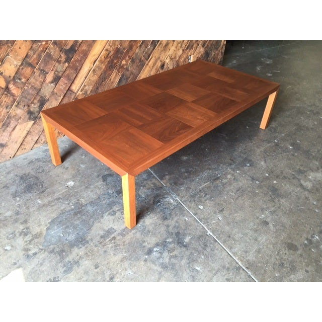 Mid-Century Refinished Parsons Style Coffee Table - Image 6 of 7