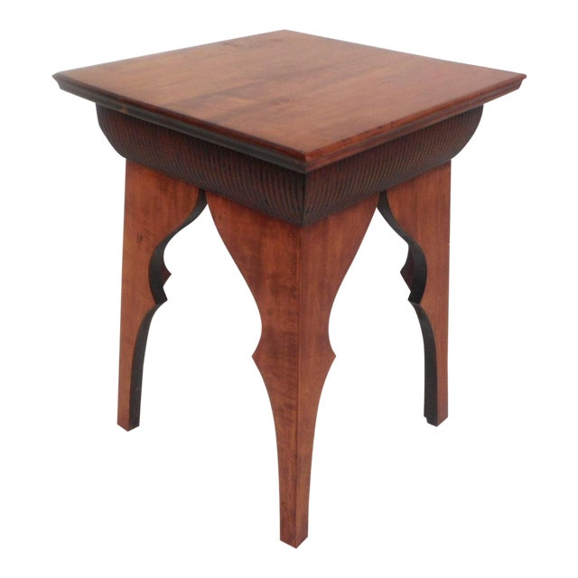 Small Mid-Century Modern Sculpted Side Table or Pedestal For Sale