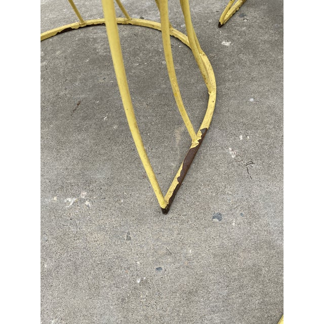 Mid Century Iron & Vinyl Patio Chairs - Set/4 For Sale In Richmond - Image 6 of 8