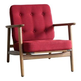 Denmark Midcentury Easy Chair Model Ge-233 by Hans Wegner for Getama