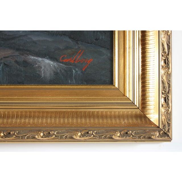 Mid-Century Modern Erik Theodor Carlberg, Seascape For Sale - Image 3 of 3
