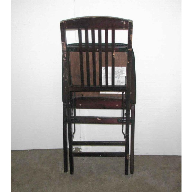 Antique Black Folding Wood Chair For Sale - Image 11 of 11