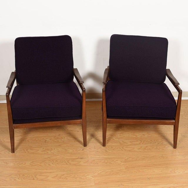 Edmond J. Spence Edmond Spence Mid-Century Modern Walnut Club Chairs - a Pair For Sale - Image 4 of 13