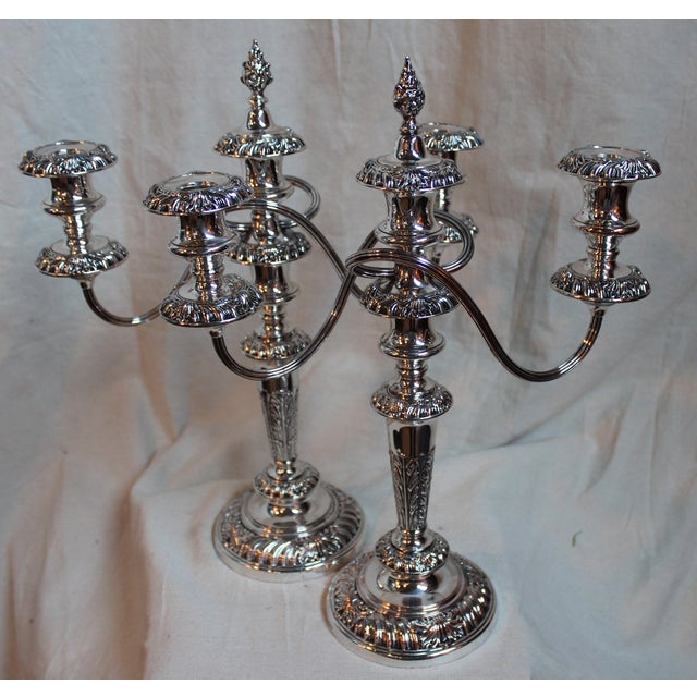 Three-Light Candelabras - A Pair - Image 5 of 7
