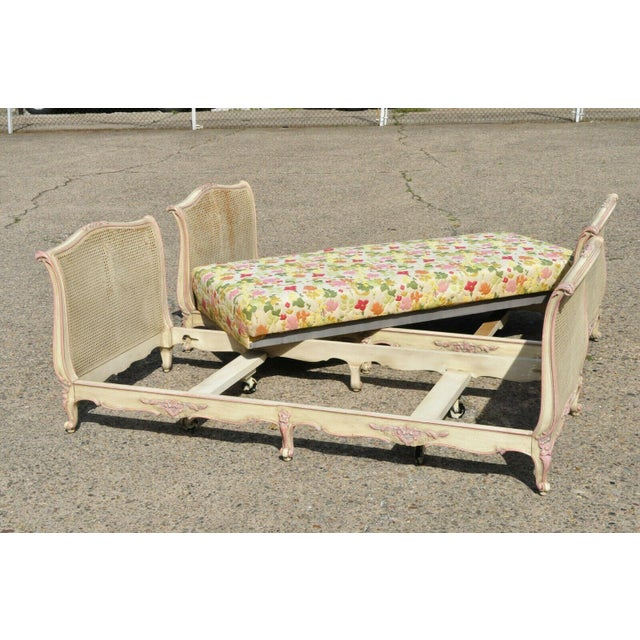 Early 20th Century French Louis XV Style Daybeds- a Pair For Sale - Image 10 of 12