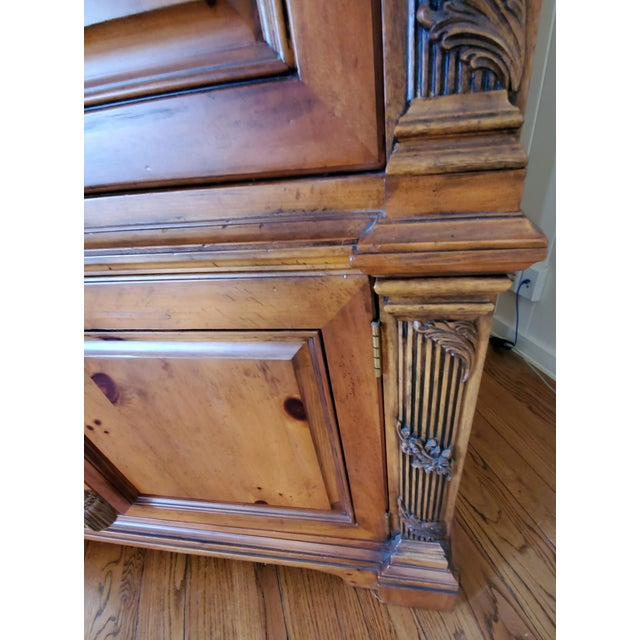 Brown Early 21st Century Henredon Entertainment Center For Sale - Image 8 of 13