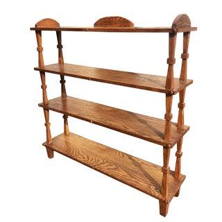 Antique Mission Oak Arts & Crafts Plant Book Shelf Preview