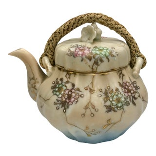 Late Meiji to Early Taisho Japanese Tashiro Yokohama Kutani Teapot For Sale