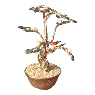 Jade Asian Chinoiserie Tree For Sale