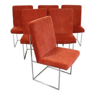 Set of 6 Mid-Century Danish Modern Milo Baughman Thayer Coggin Dining Chairs For Sale