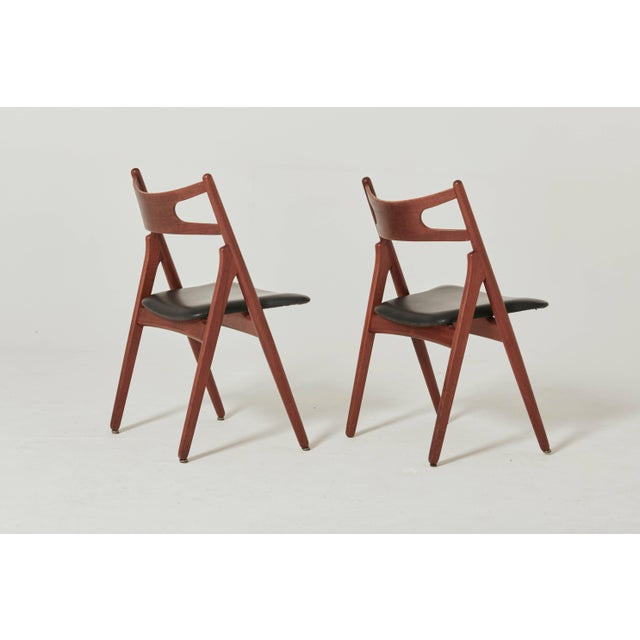 Set of Six Hans Wegner Ch-29 Sawbuck Dining Chairs, Carl Hansen, Denmark For Sale - Image 6 of 13