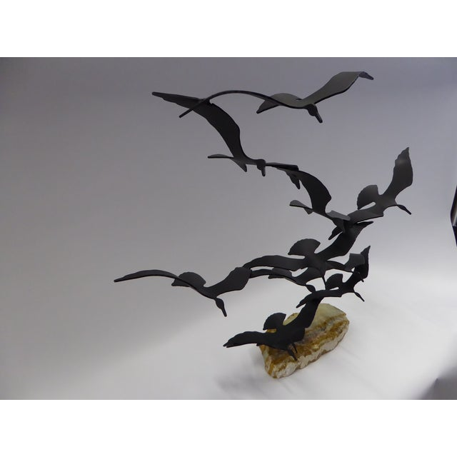 "1980s Bijan ""Flock of Seagulls"" Kinetic Metal Sculpture For Sale - Image 5 of 12"