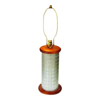 Gold Bond Stamps Roller Table Lamp For Sale