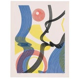 Image of Abstract Color Lithograph by Titus 1990s For Sale