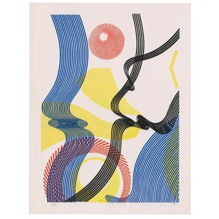 Abstract Color Lithograph by Titus 1990s For Sale
