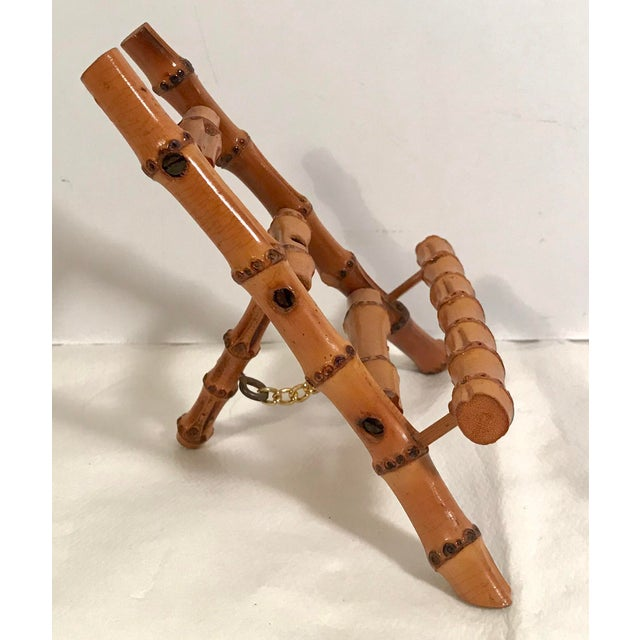 Vintage Petite Bamboo Mini Easel For Sale - Image 4 of 7