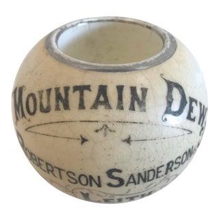 Vintage Pottery Match Striker - Mountain Dew Scotch Whisky