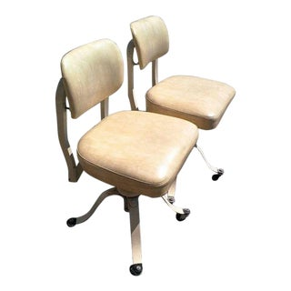 Vintage Mid Century Industrial Medical Remington Rand Office Chairs - a Pair For Sale