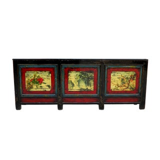 1940s Asian Antique Large Hand Painted Sideboard Preview
