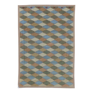 """Aara Rugs Inc. Hand Knotted Modern Kilim Rug - 11′10″ × 17'6"""" For Sale"""