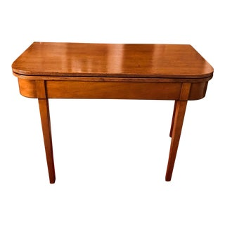 18th Century George III Mahogany Tea Table For Sale