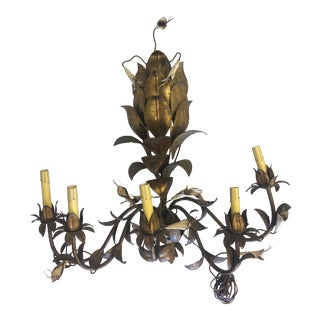 1940's Italian Gilt Florentine Style Wall Sconce For Sale