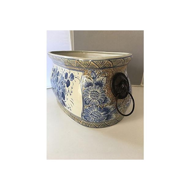 Maitland - Smith Maitland-Smith Chinoiserie Blue & White Planter For Sale - Image 4 of 5