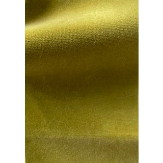 Mulberry Velvet Magnolia Color Chartreuse Fabric For Sale
