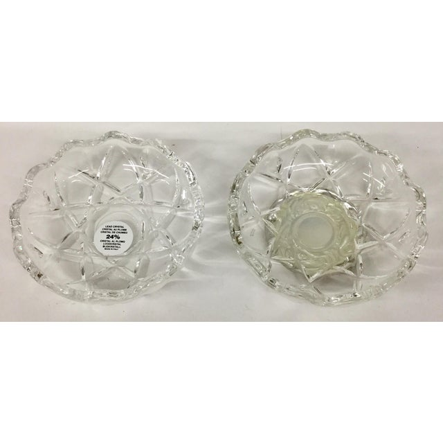 1980s Italian Lead and Crystal Silver Plate Trinket Dish For Sale In Boston - Image 6 of 8