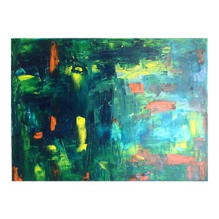 Abstract Koi Pond Oil Painting For Sale
