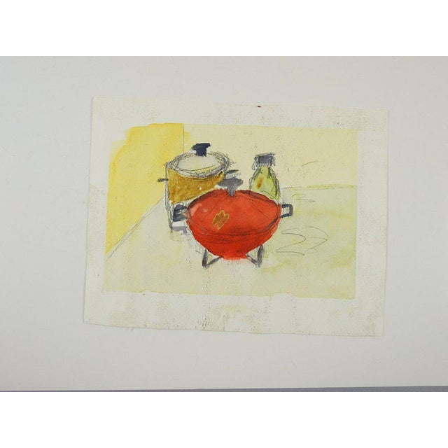 Contemporary Abstract Landscape Watercolor Painting For Sale - Image 3 of 5