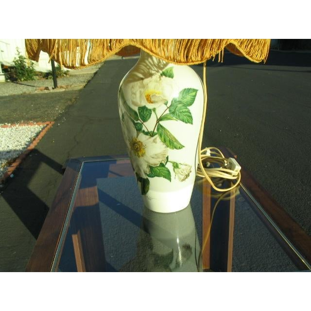 Traditional Mid-Century Rosenthal Selb Bavaria Germany Large Table Lamp For Sale - Image 3 of 8