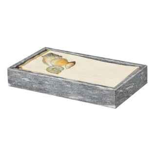 Gray Marble Guest Towel Tray For Sale
