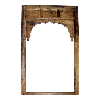 Antique Reclaimed Wood Mediterranean Inspired Archway For Sale